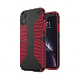 Speck – Presidio Grip iPhone XR tok – fekete/piros