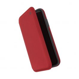 Speck – Presidio Folio iPhone XR kinyitható tok – piros/grafitszürke