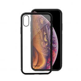 EPICO - Edzett üveg tok - iPhone XS Max - átlátszó/fekete