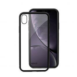 EPICO - Edzett üveg tok - iPhone XR - átlátszó/fekete - (Guarantee Program)