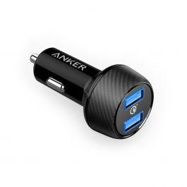 Anker – PowerDrive Speed 2QC UN 2-portos szivargyújtós töltő – Fekete