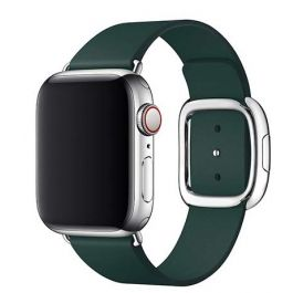 Apple Watch 40mm Band: Forest Green Modern Buckle Band - Large   (Seasonal Autumn2018)