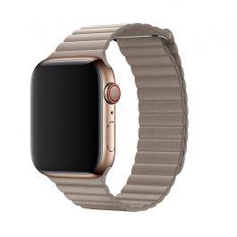 Apple Watch 44mm-es, kavicsszürke bőrpánt - közepes
