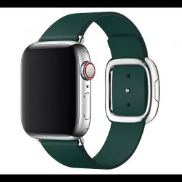 Apple – 40 mm-es erdőzöld szíj, modern csattal – közepes