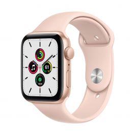 Apple Watch SE GPS – 40 mm-es aranyszínű alumíniumtok, rózsakvarcszínű sportszíj