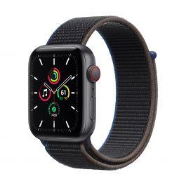 Apple Watch SE GPS + Cellular – 44 mm-es asztroszürke alumíniumtok, hamuszürke sportpánt