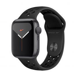 Apple Watch Series 5 Nike+ GPS, 44 mm-es, asztroszürke alumíniumtok fekete sportszíjjal