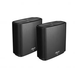 ASUS ZenWiFi AC (CT8) WLAN Router Tri-band (2.4 GHz / 5 GHz / 5 GHz) - 2 Pack, Black