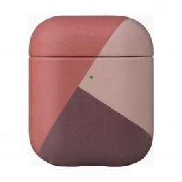 Native Union – Marquetry rózsaszín bőr AirPods tok