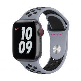 Apple – 40 mm-es obszidiánköd-fekete Nike sportszíj