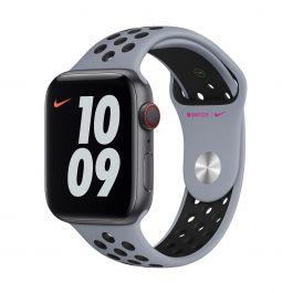 Apple – 44 mm-es obszidiánköd-fekete Nike sportszíj