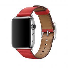 Apple - 42 mm-es, piros szíj klasszikus csattal