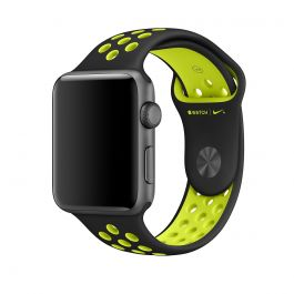 Apple Watch 38mm Nike Band: Black/Volt Nike Sport Band - S/M & M/L