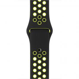 Apple - 42 mm-es, fekete–neonzöld Nike sportszíj