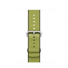 Apple Watch 38mm Band: Dark Olive Check Woven Nylon
