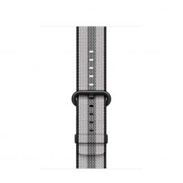 Apple - 42 mm-es csíkos szőtt műanyag szíj - Fekete