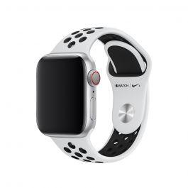 Apple – 40 mm-es platinaszín-fekete Nike sportszíj