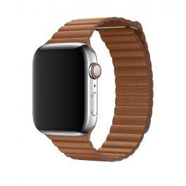 Apple – 44 mm-es vörösesbarna bőrszíj – közepes