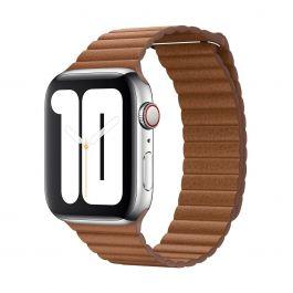 Apple – 44 mm-es vörösesbarna bőrszíj – nagy