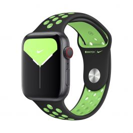 Apple – 44 mm-es fekete-lime robbanás Nike sportszíj