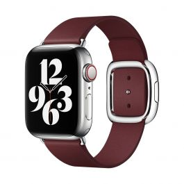 Apple – 40 mm-es gránátvörös szíj modern csattal – közepes