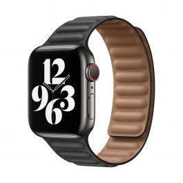 Apple – 40 mm-es fekete bőrpánt – nagy