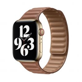 Apple – 44 mm-es vörösesbarna bőrpánt – kicsi