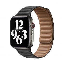 Apple – 44 mm-es fekete bőrpánt – nagy