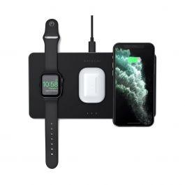 Satechi – Trio Vezetéknélküli töltő (Apple Watch, Airpods, iPhone) - Fekete