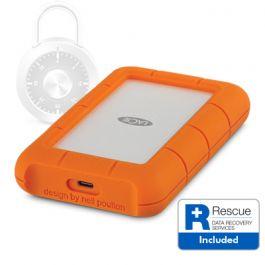 Lacie - Rugged Secure USB-C 2TB-os hordozható merevlemez, titkosítással