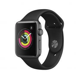 Apple Watch Series 3 GPS, 42 mm-es, asztroszürke alumíniumtok fekete sportszíjjal