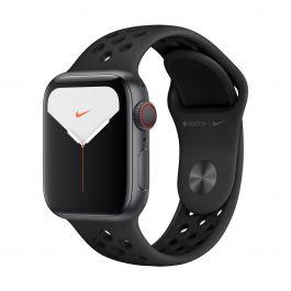 Apple Watch Series 5 Nike GPS + Cellular – 40mm-es asztroszürke alumíniumtok, antracit-fekete sportszíjjal