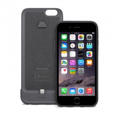 Moshi - iGlaze Ion Battery iPhone 6/6s tok + külső akkumulátor - Fekete