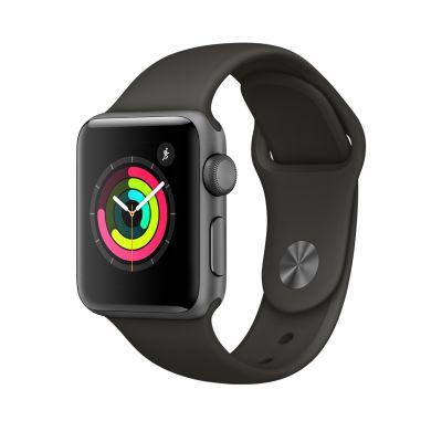 Apple Watch Series 3 - 38 mm-es, Asztroszürke alumíniumtok szürke sportszíjjal