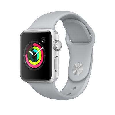 Apple Watch Series 3 - 38 mm-es, ezüstszínű alumíniumtok ködszürke sportszíjjal