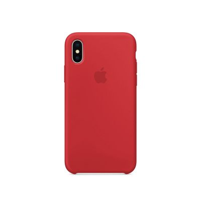Apple - iPhone X szilikontok – (PRODUCT)RED