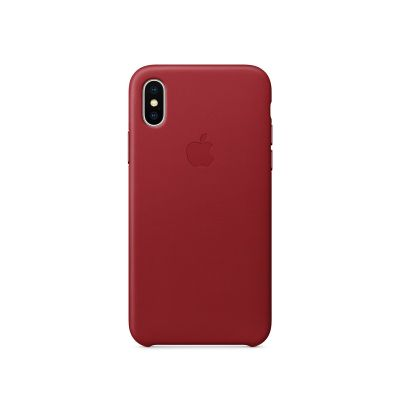Apple - iPhone X bőrtok – (PRODUCT)RED