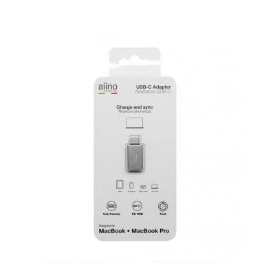 Aiino - USB-C - USB-A átalakító - Asztroszürke