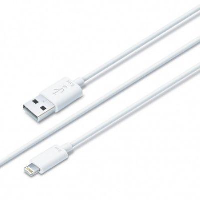 iLuv Premium Lightning töltő- és adatkábel (1.8m) - Fehér