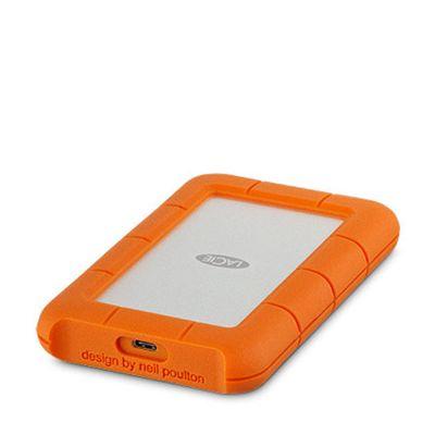 Lacie - 1TB Rugged USB-C külső merevlemez - Ezüst/Narancs