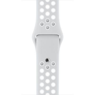 Apple - 42 mm-es, platinaszín–fehér Nike sportszíj