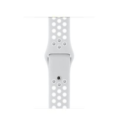Apple - 38 mm-es, platinaszín–fehér Nike sportszíj