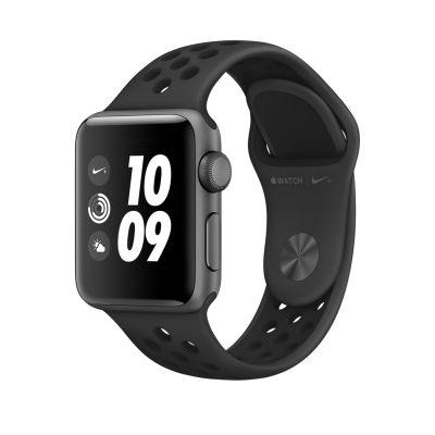 Apple Watch Series 3 Nike+ 38-mm-es, asztroszürke alumíniumtok antracit–fekete Nike sportszíjjal